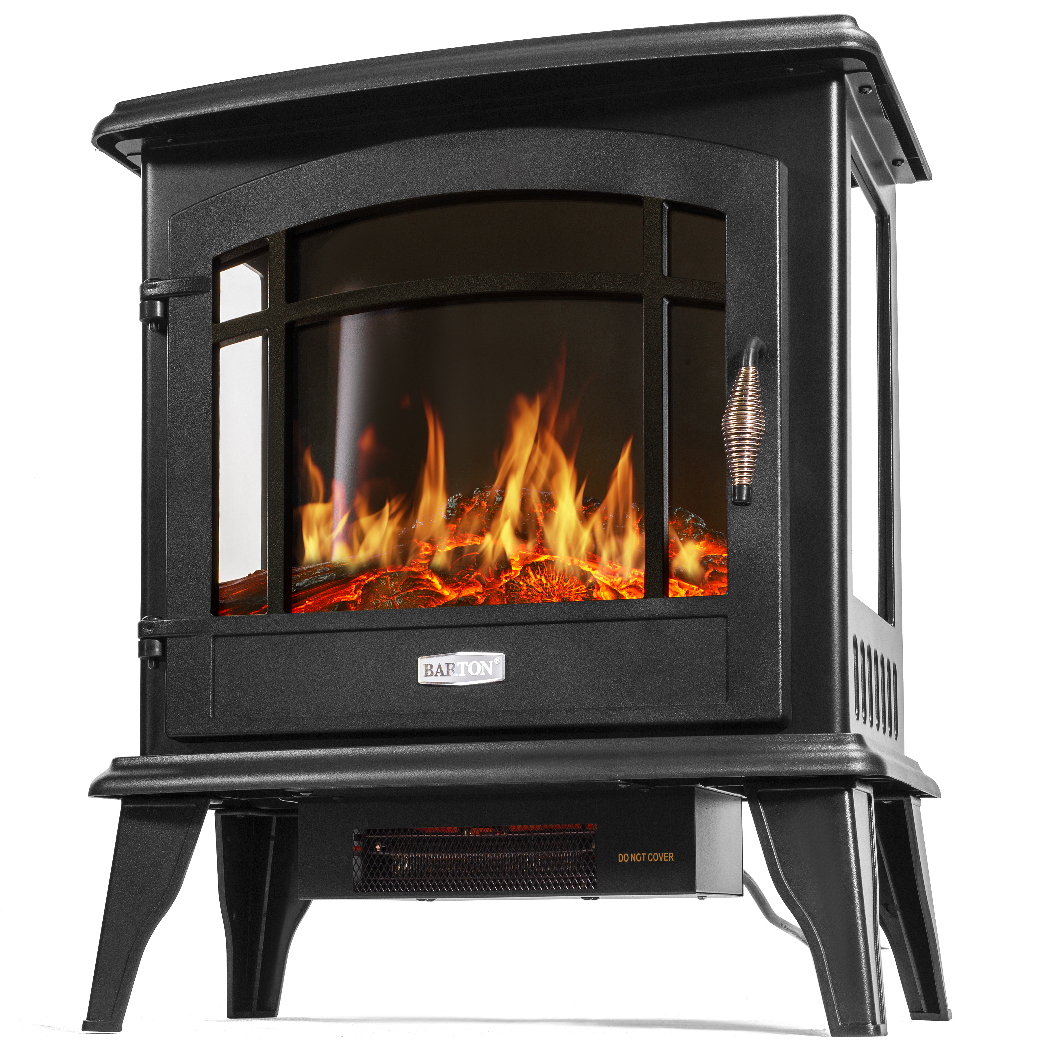 1500w Portable Electric Fireplace Space Heater Log Flame Stove Free Standing Ebay