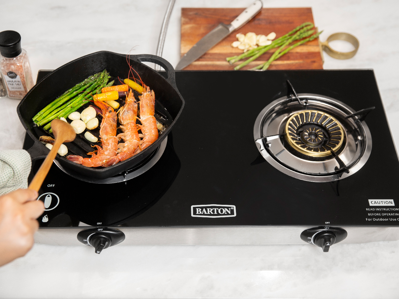 Rv Propane Stove >> Details About Propane Gas Range Stove 2 Burner Rv Camping Tempere Glass Cook Top Auto Ignition
