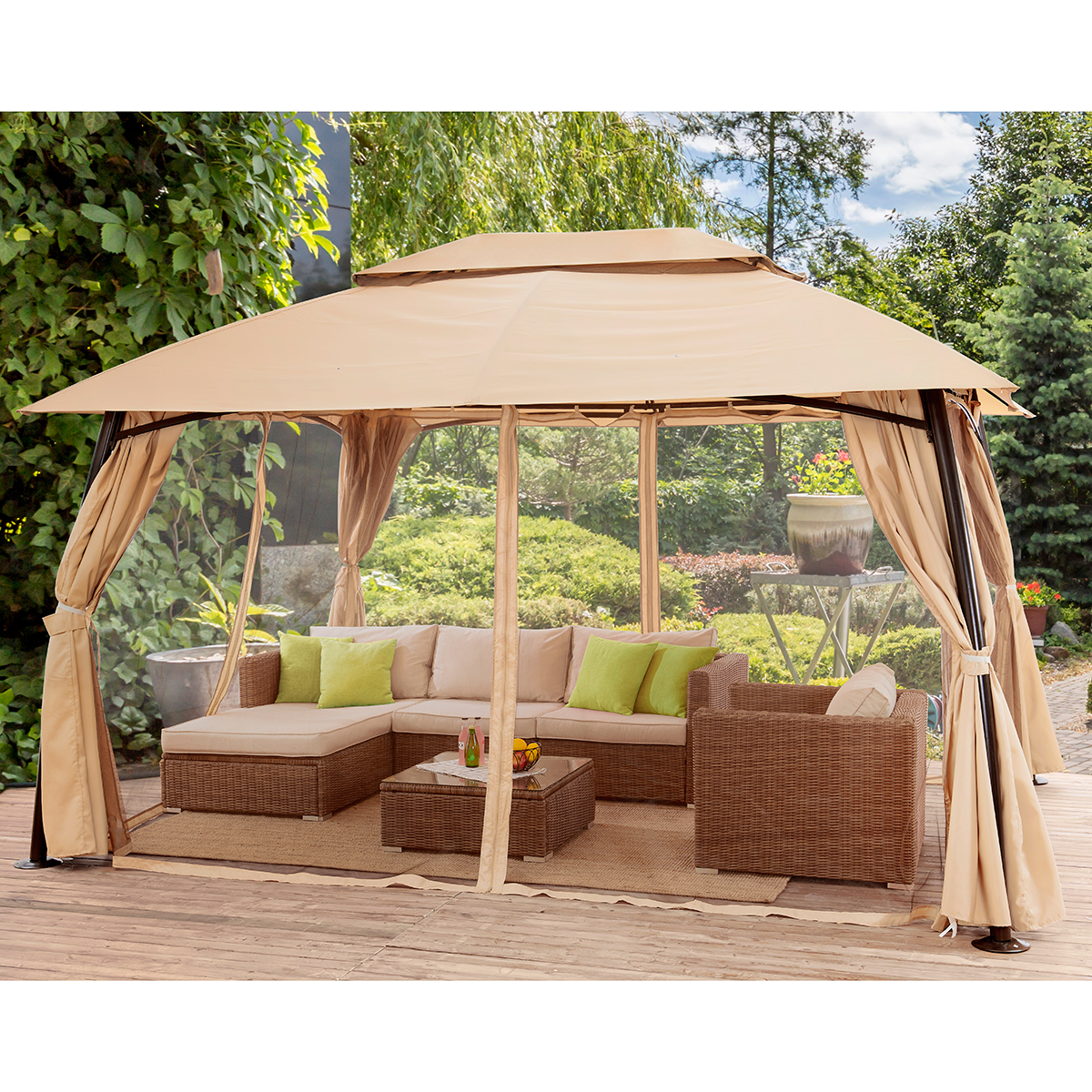 premium selection 56aee 96d89 Details about outdoor home 10' x 13' backyard garden awnings Patio Gazebo  canopy tent netting