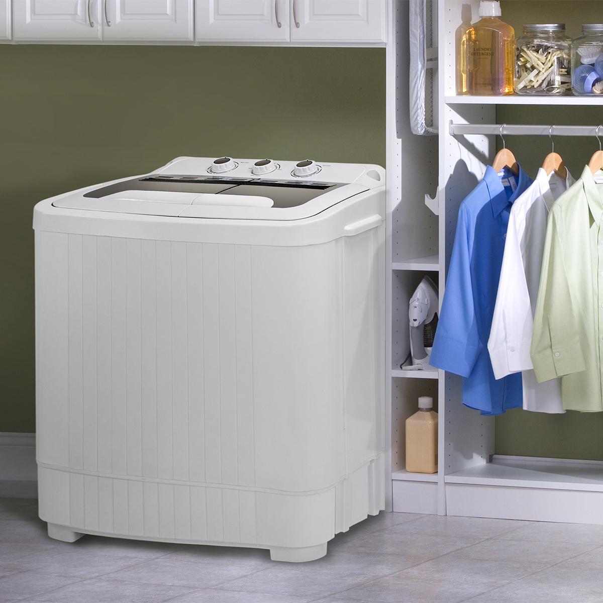 VIVOHOME Portable Mini Compact Twin Tub Washing Machine Washer Spin /&Dryer 13lbs