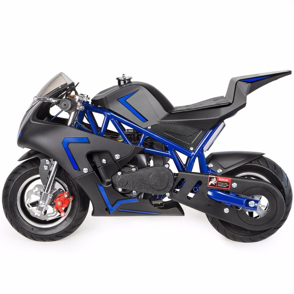 XtremepowerUS-Gas-Pocket-Bike-Motor-Bike-Scooter-40cc-Epa-Engine-Motorcycle thumbnail 8