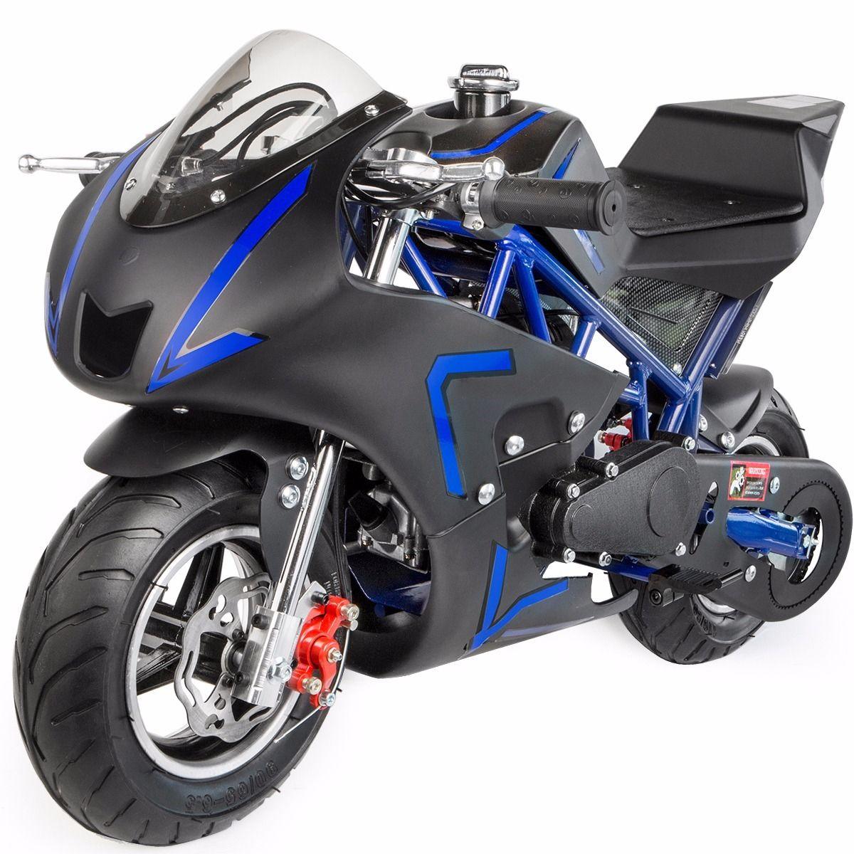 XtremepowerUS-Gas-Pocket-Bike-Motor-Bike-Scooter-40cc-Epa-Engine-Motorcycle thumbnail 7