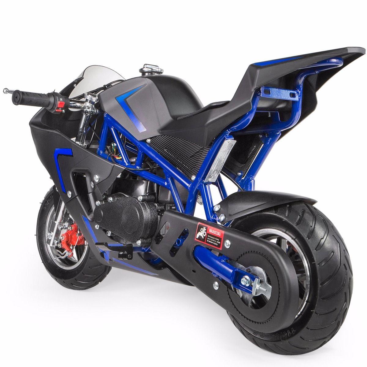XtremepowerUS-Gas-Pocket-Bike-Motor-Bike-Scooter-40cc-Epa-Engine-Motorcycle thumbnail 6
