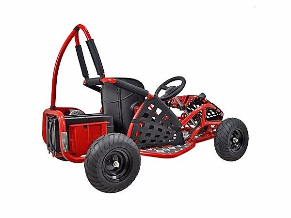 48v-1000w-3-speed-control-High-Performance-Electric-Off-Road-Go-Kart-Red-New thumbnail 15