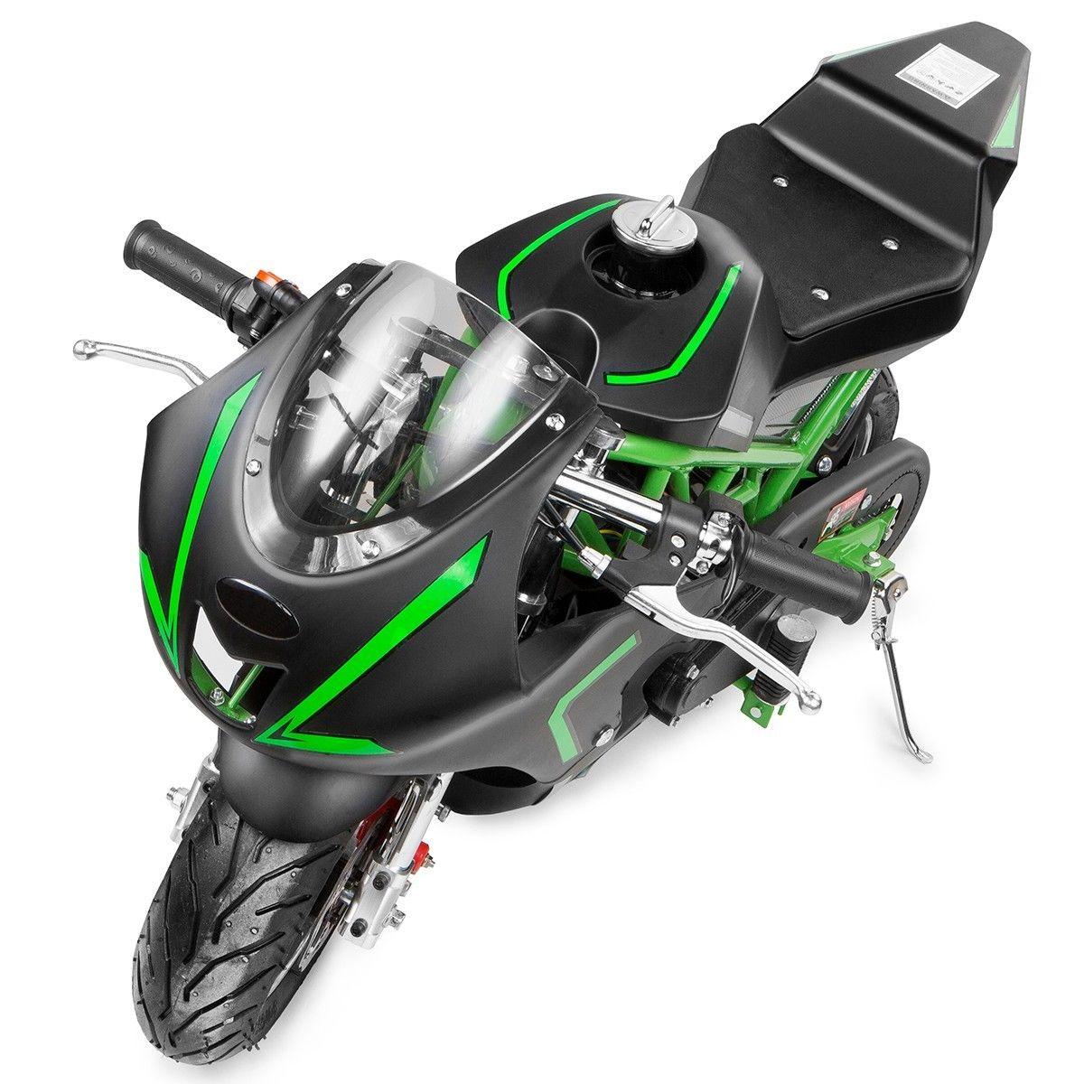 XtremepowerUS-Gas-Pocket-Bike-Motor-Bike-Scooter-40cc-Epa-Engine-Motorcycle thumbnail 15