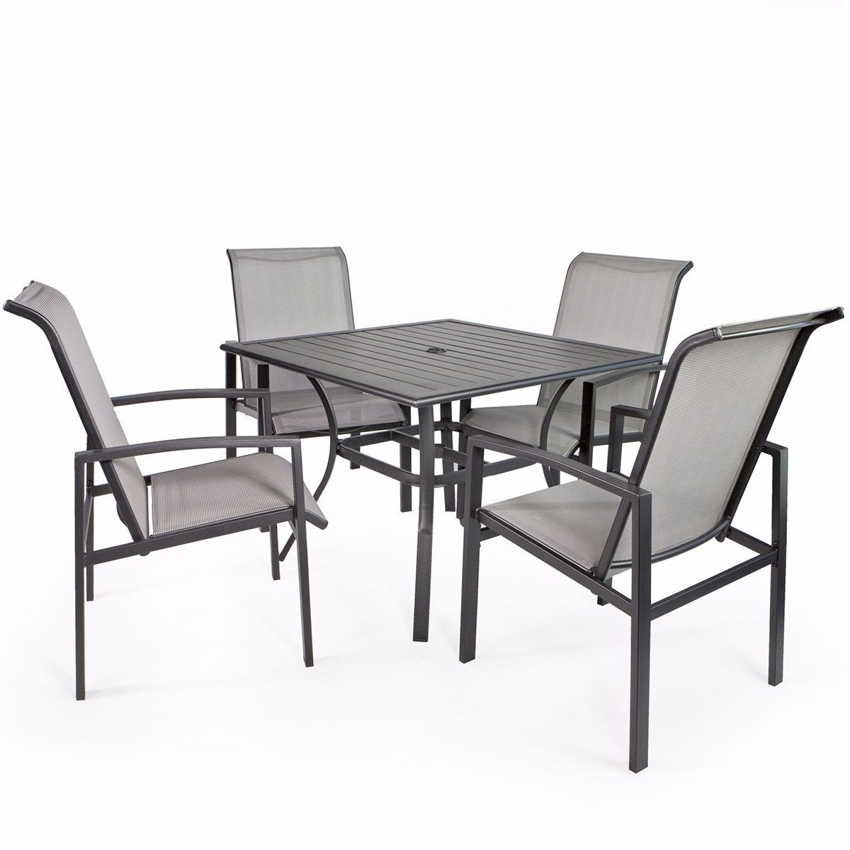 Barton 5-Piece Outdoor Patio Dining 1 Table and 4 Chairs Set Outdoor Furniture | eBay