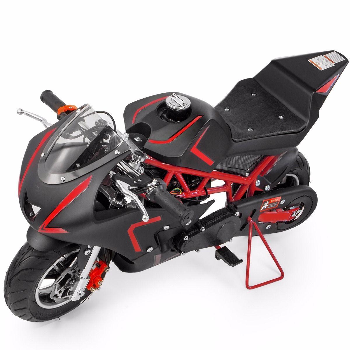 XtremepowerUS-Gas-Pocket-Bike-Motor-Bike-Scooter-40cc-Epa-Engine-Motorcycle thumbnail 26
