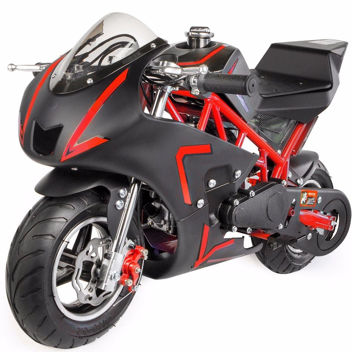 XtremepowerUS-Gas-Pocket-Bike-Motor-Bike-Scooter-40cc-Epa-Engine-Motorcycle thumbnail 23