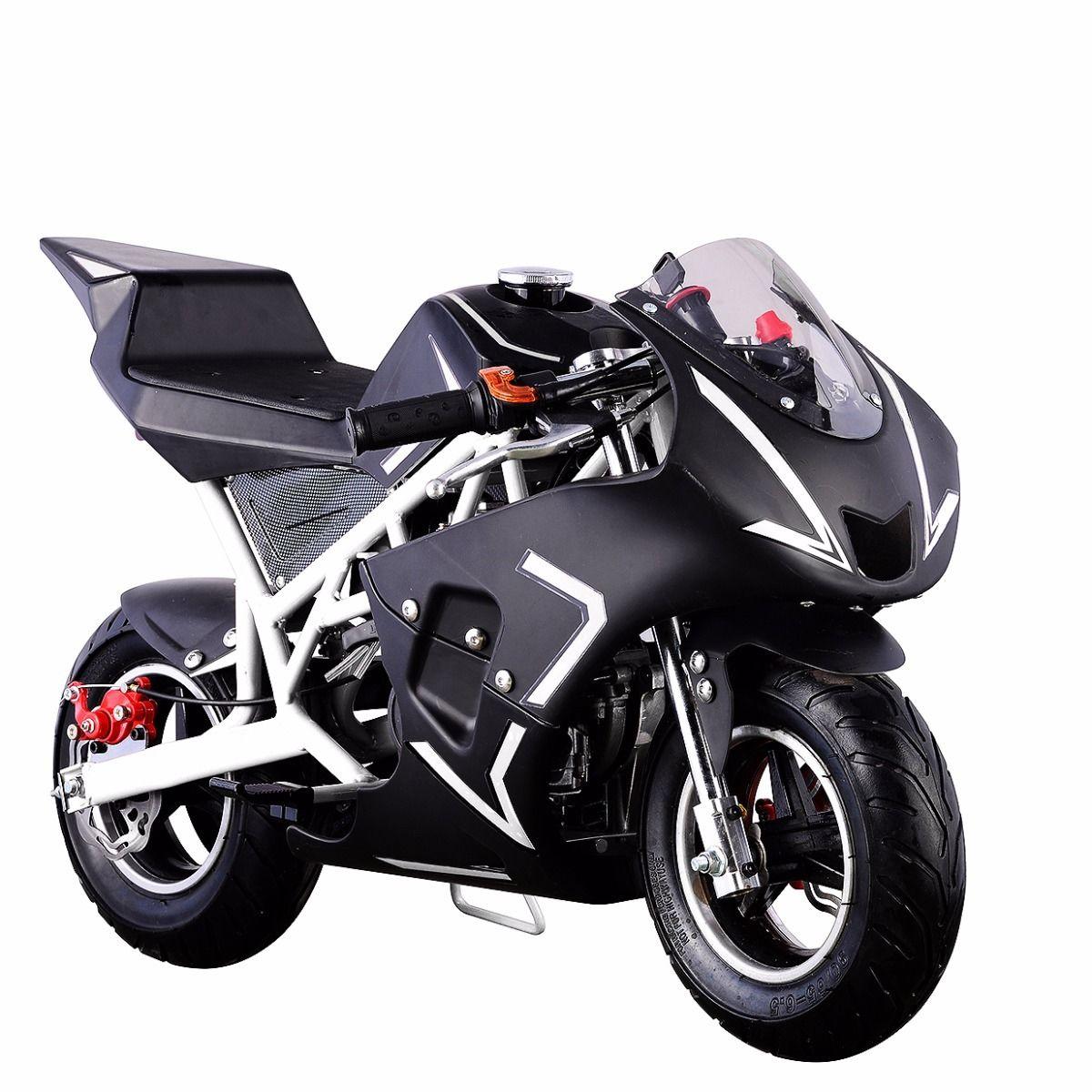 XtremepowerUS-Gas-Pocket-Bike-Motor-Bike-Scooter-40cc-Epa-Engine-Motorcycle thumbnail 30