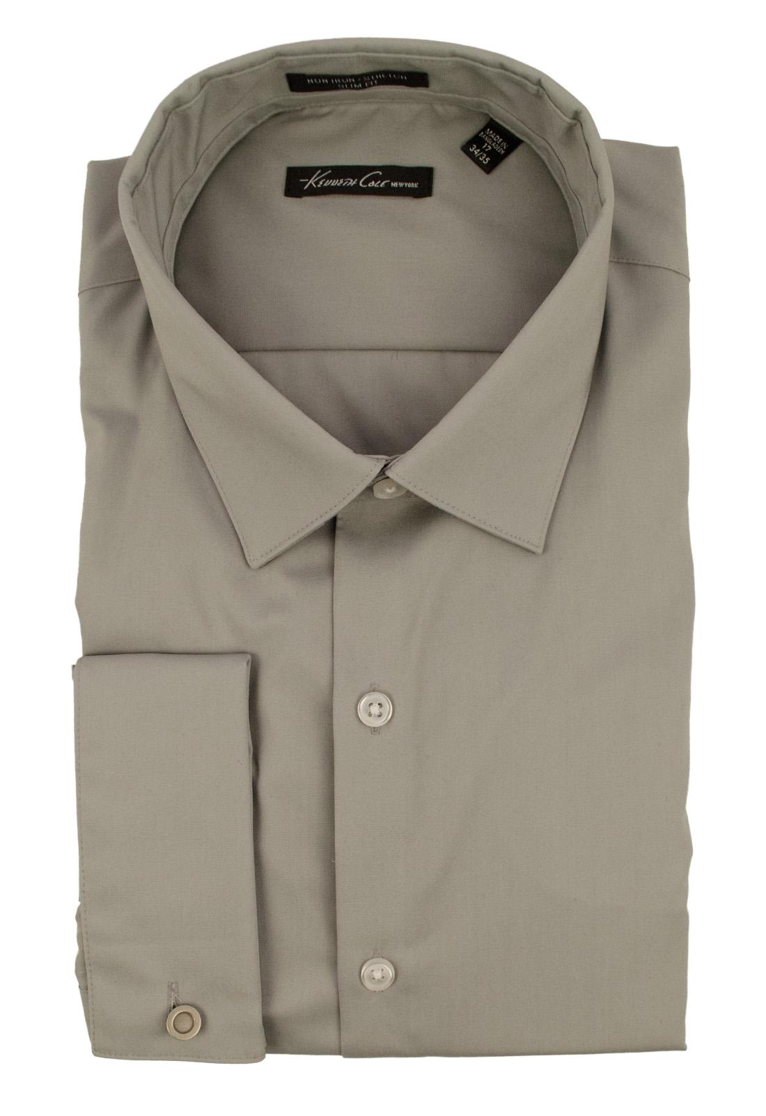 917af174bc Kenneth Cole New York Men's Stretch Slim Fit French Cuff Sleeve Shirt