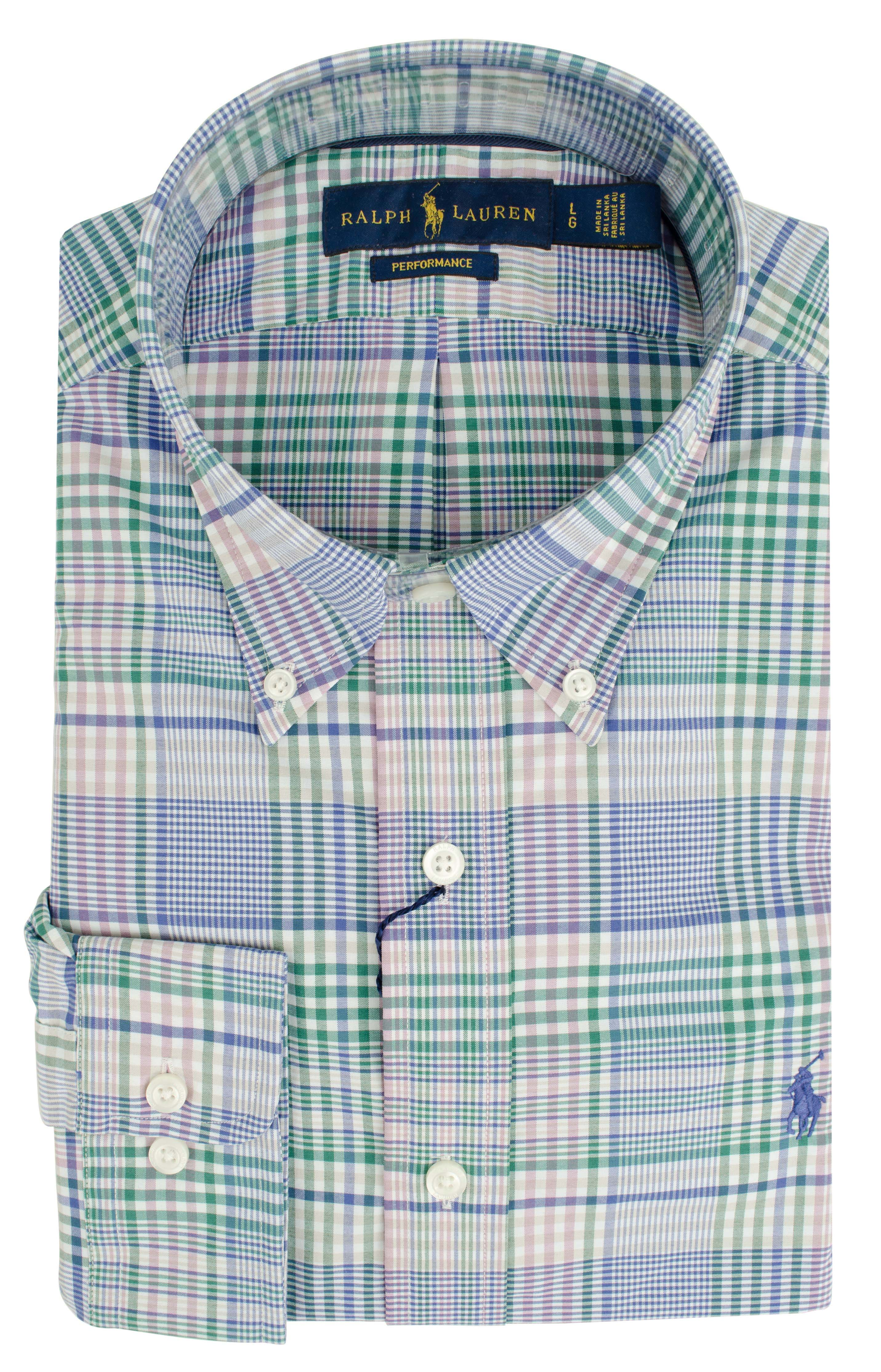 afebbaaf5 Polo Ralph Lauren Men s Classic Fit Performance Twill Long Sleeve Shirt-B-XL