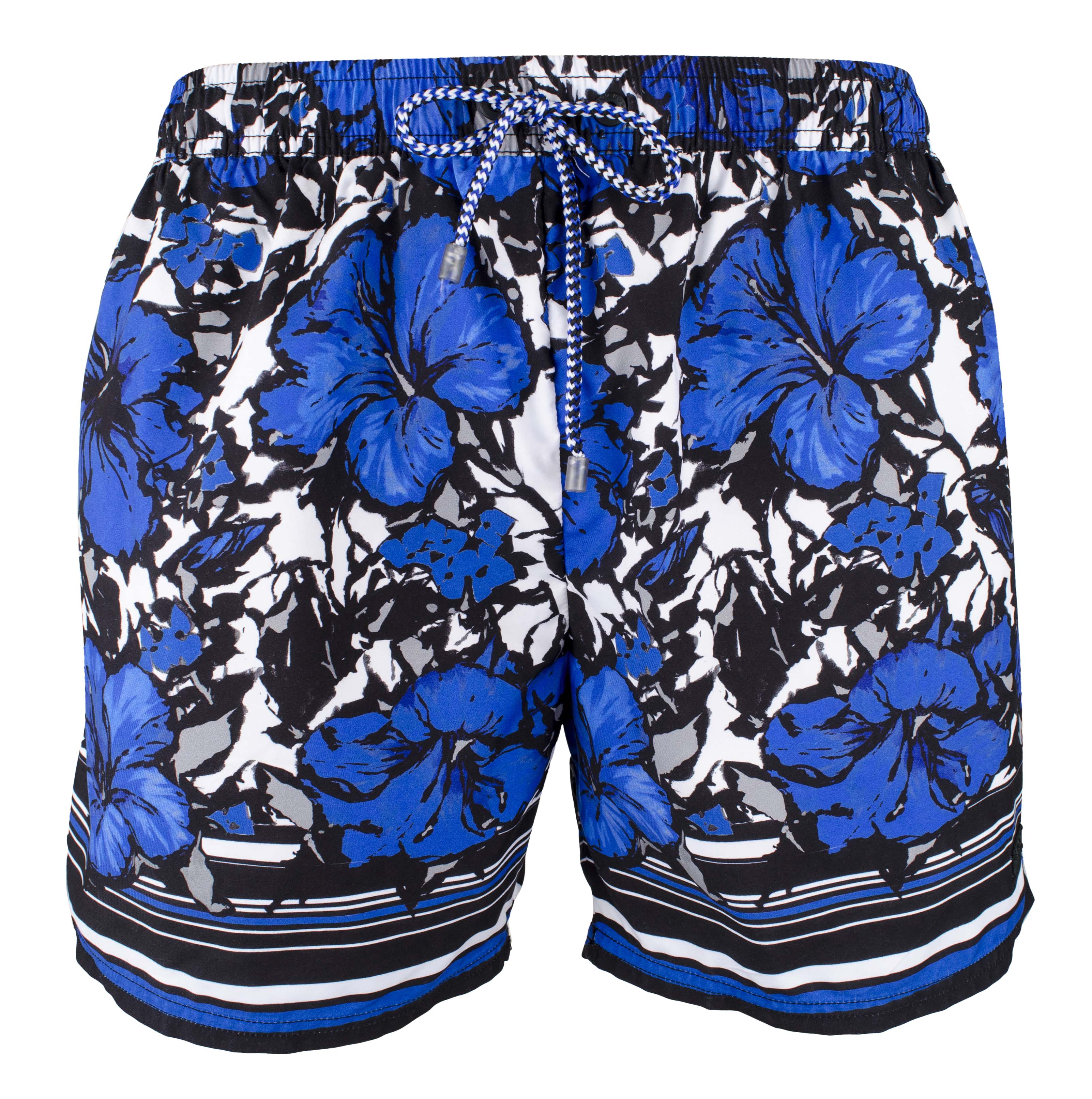b6b744922 Hugo Boss Men's Blue Pattern Piranha Swim Trunks-M-L 15343049449 | eBay