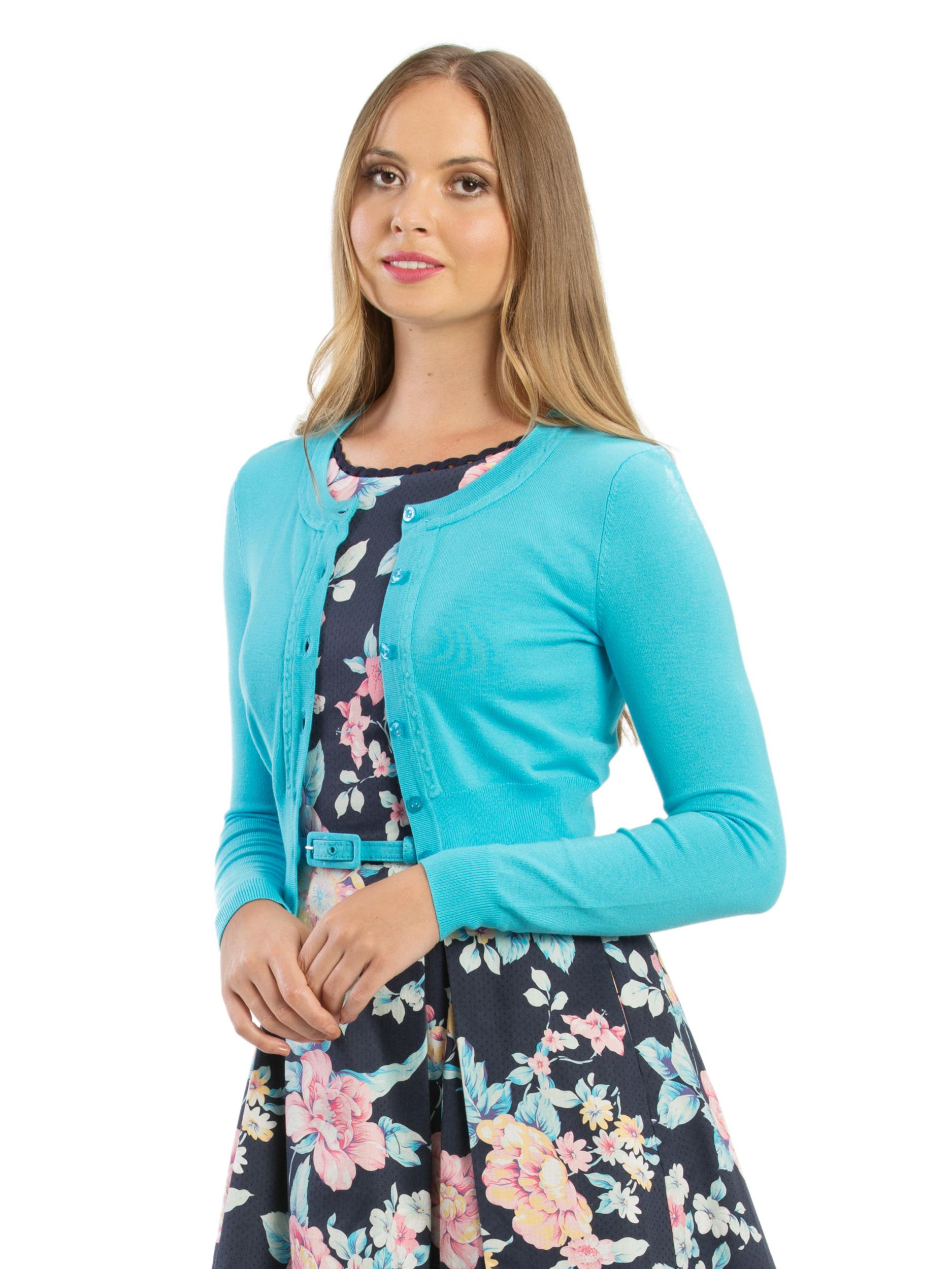 53eb2c263a6 New Review Women  039 s Chessie Long Sleeve Cardi Aqua