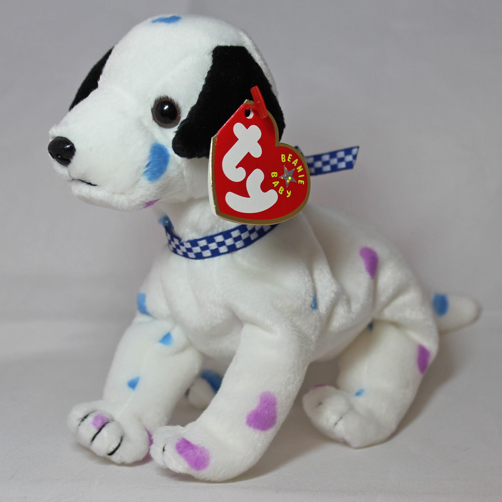 df951d56487 Ty Beanie Baby Dizzy - MWMT (Dog w  Colored Ears   Colored Spots) 2 2 of 2  See More