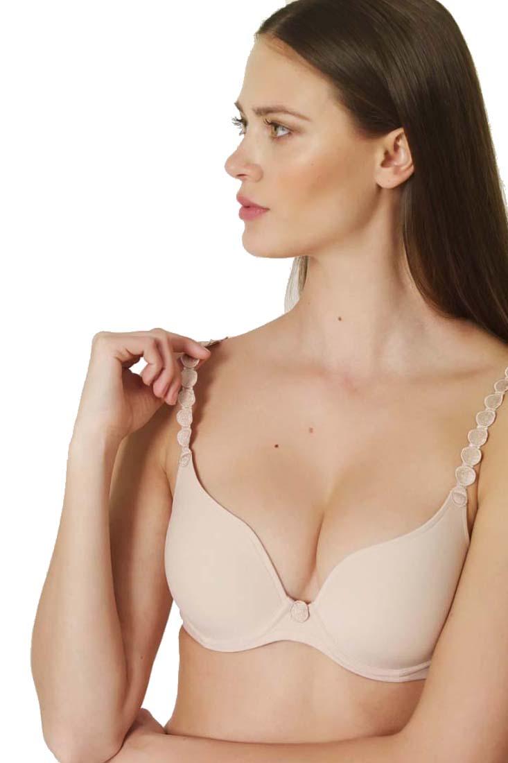 sizes 36A & 38A Bras & Bra Sets Marie Jo Tom White Padded Heart Shape Bra Women