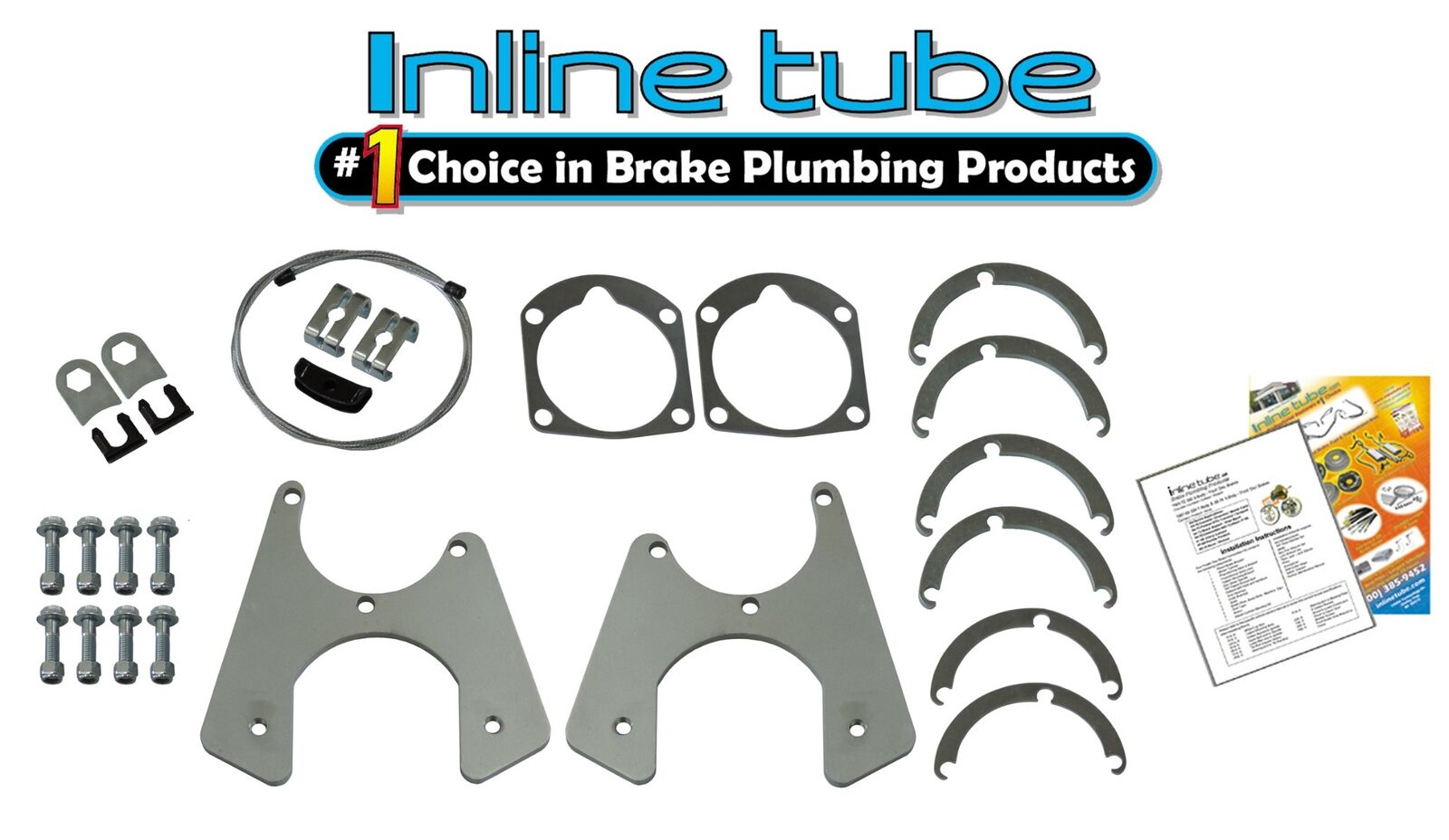 E-7-4 Inline Tube Brake and Fuel Line Clip Set Compatible with 1955-57 Chevy Bel Air and Chevrolet Impala