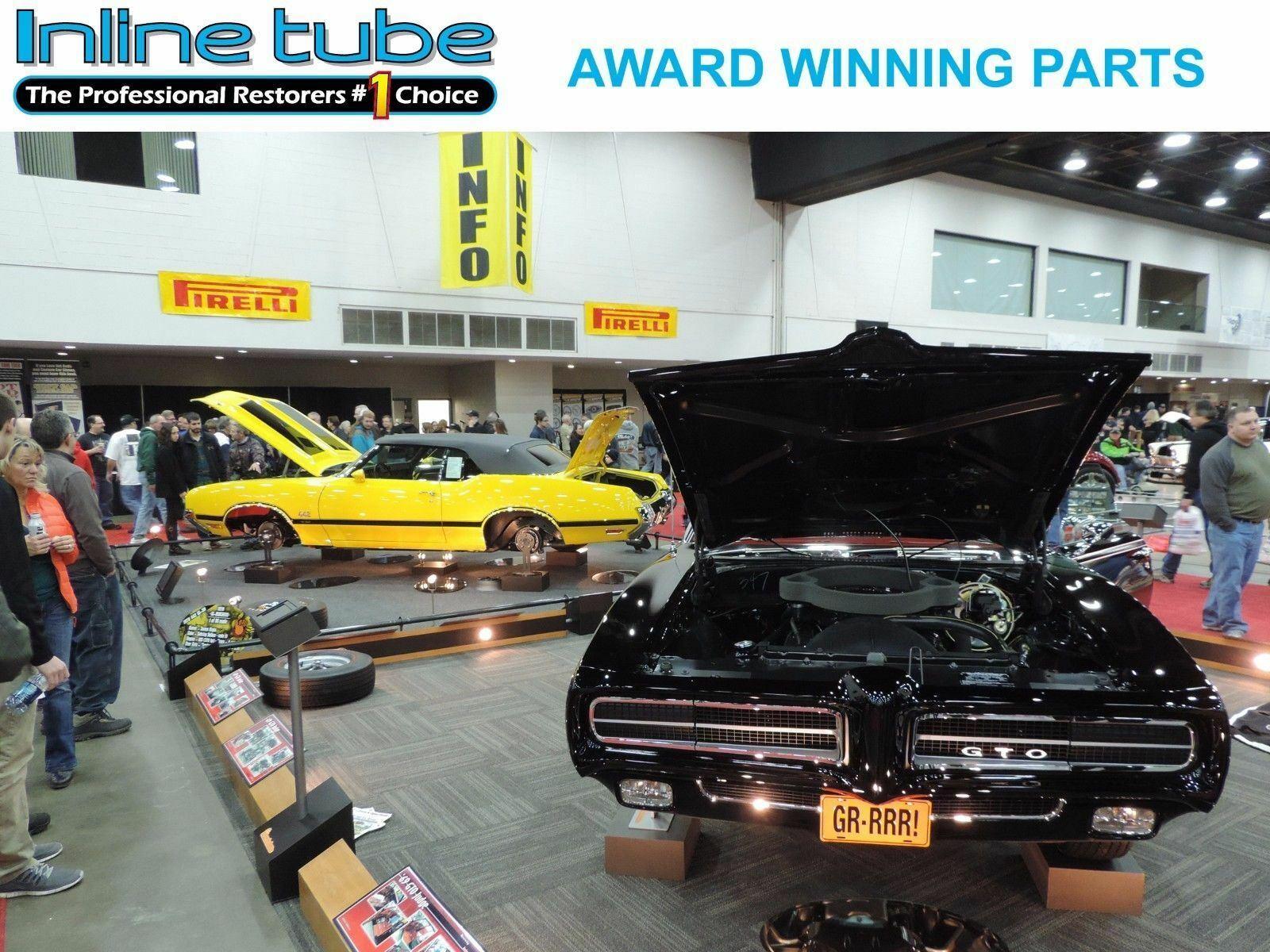 Compatible With 1969-1972 GM A F X body Rear Brake Rubber Flex Hose Line 36586 SS RS GSX Judge W30 D-10-7