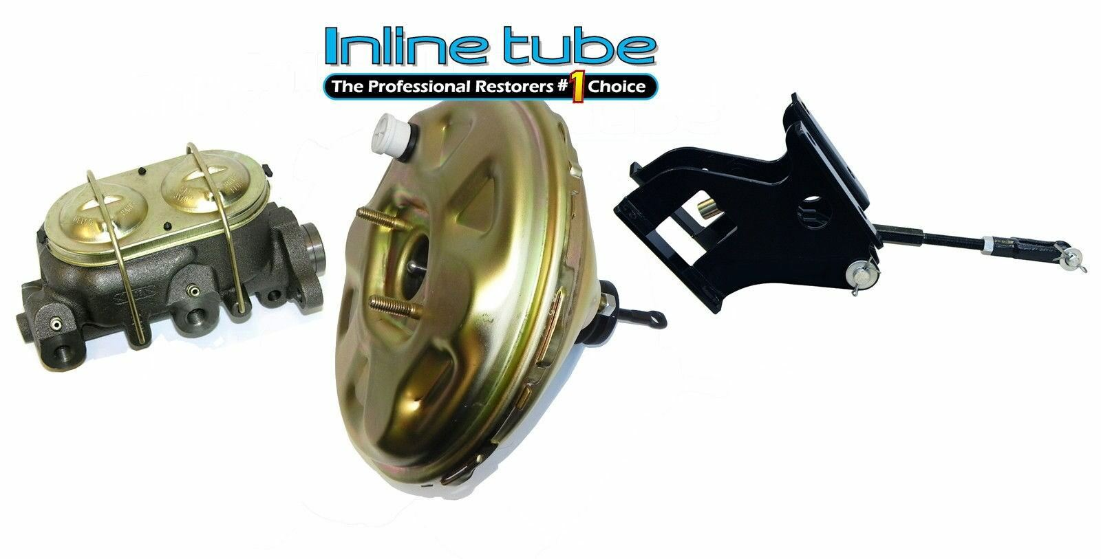 67 72 Chevrolet Chevy Gmc Pickup Truck Master Cylinder Power Brake Booster Kit Ebay