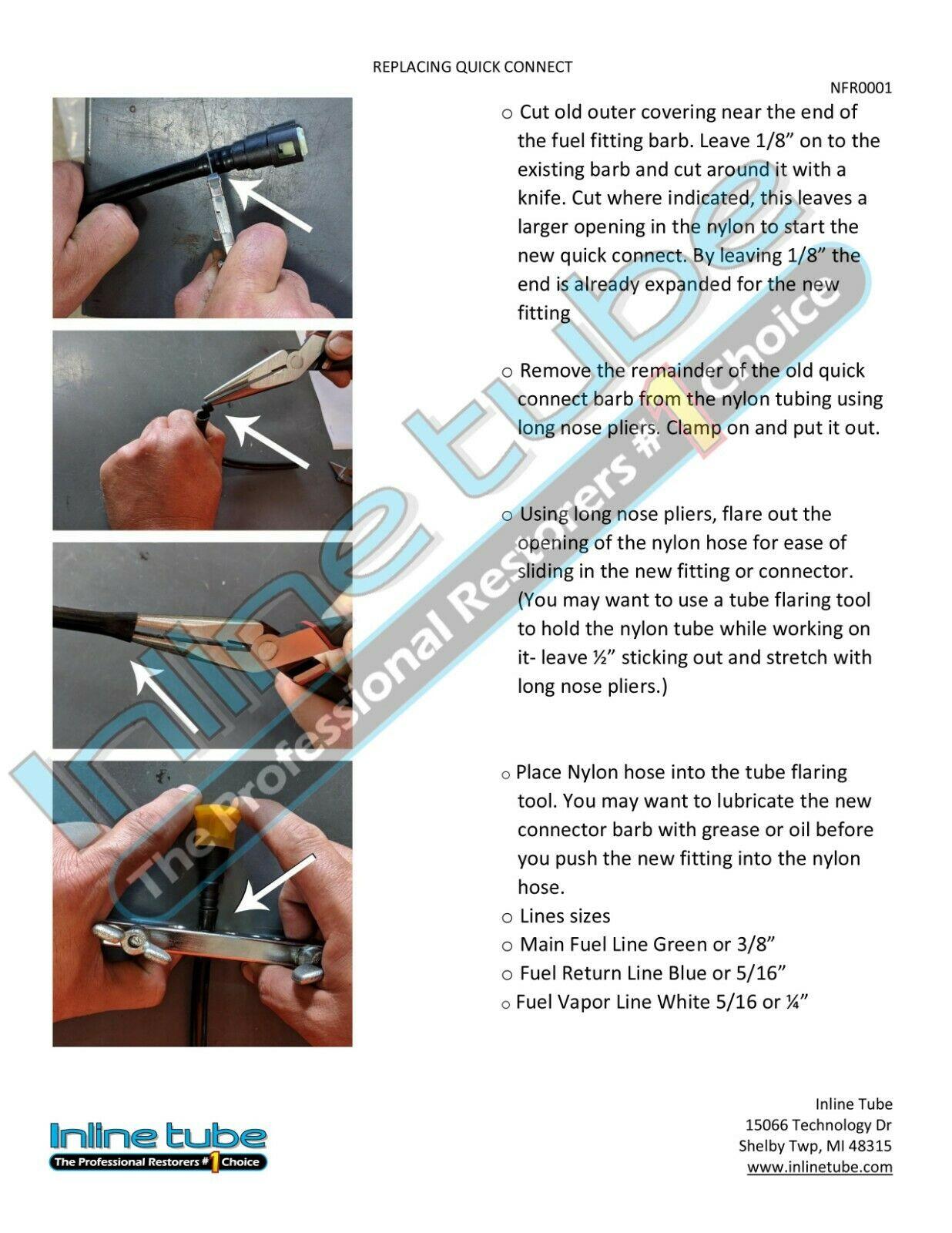 GMC 2500HD//3500 STD CAB STAINLESS Steel Fuel Return Vapor Line Kit 00-03 Chevy