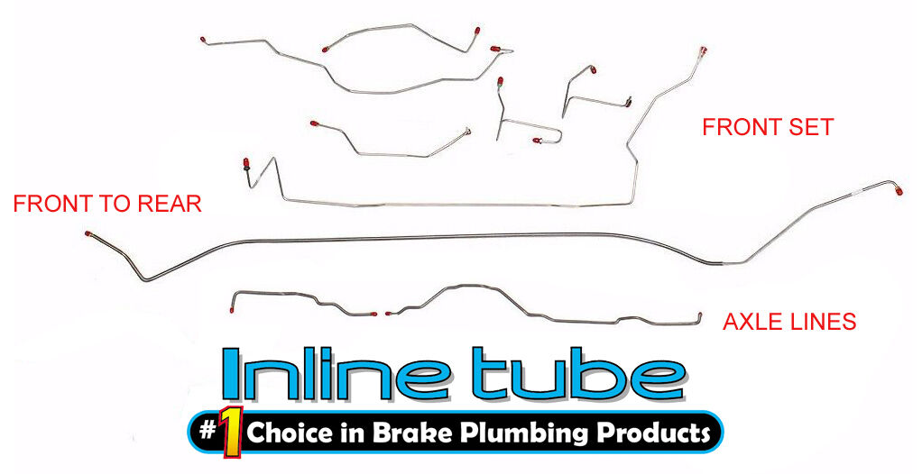 Front to Rear Brake Line Kit; Stainless Steel 1999-2004 Jeep Grand Cherokee Any Variant