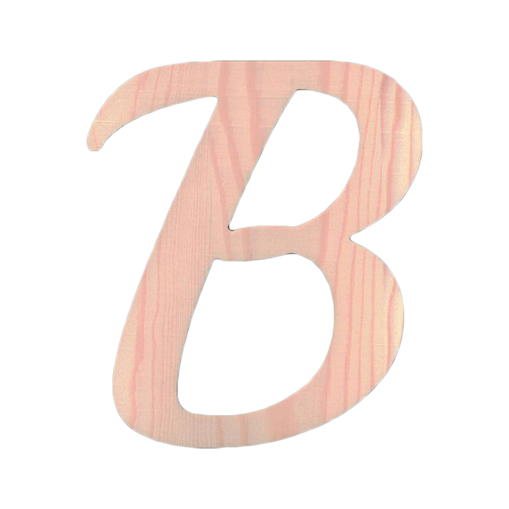Unfinished Wooden Playball Italic Number 0 6.25 Inches