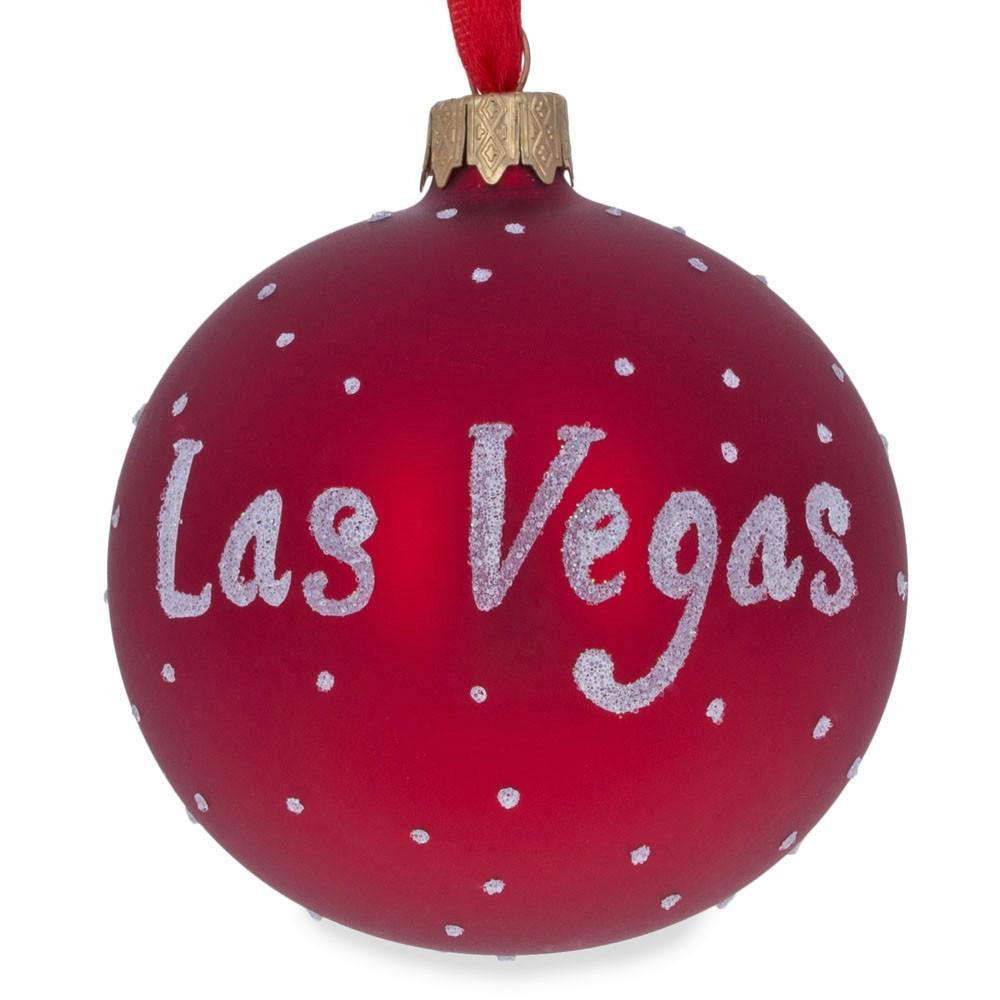 Las Vegas, Nevada Glass Ball Christmas Ornament 3.25 ...