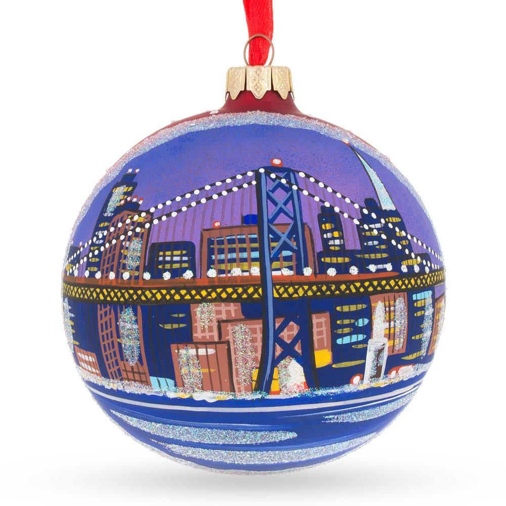 BestPysanky Popcorn for Movie Lover Blown Glass Christmas Ornament 4 Inches