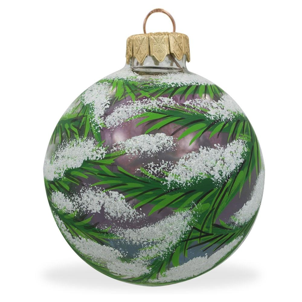 Lime Mouth Blown Glass Christmas Ornament 3.6 Inches
