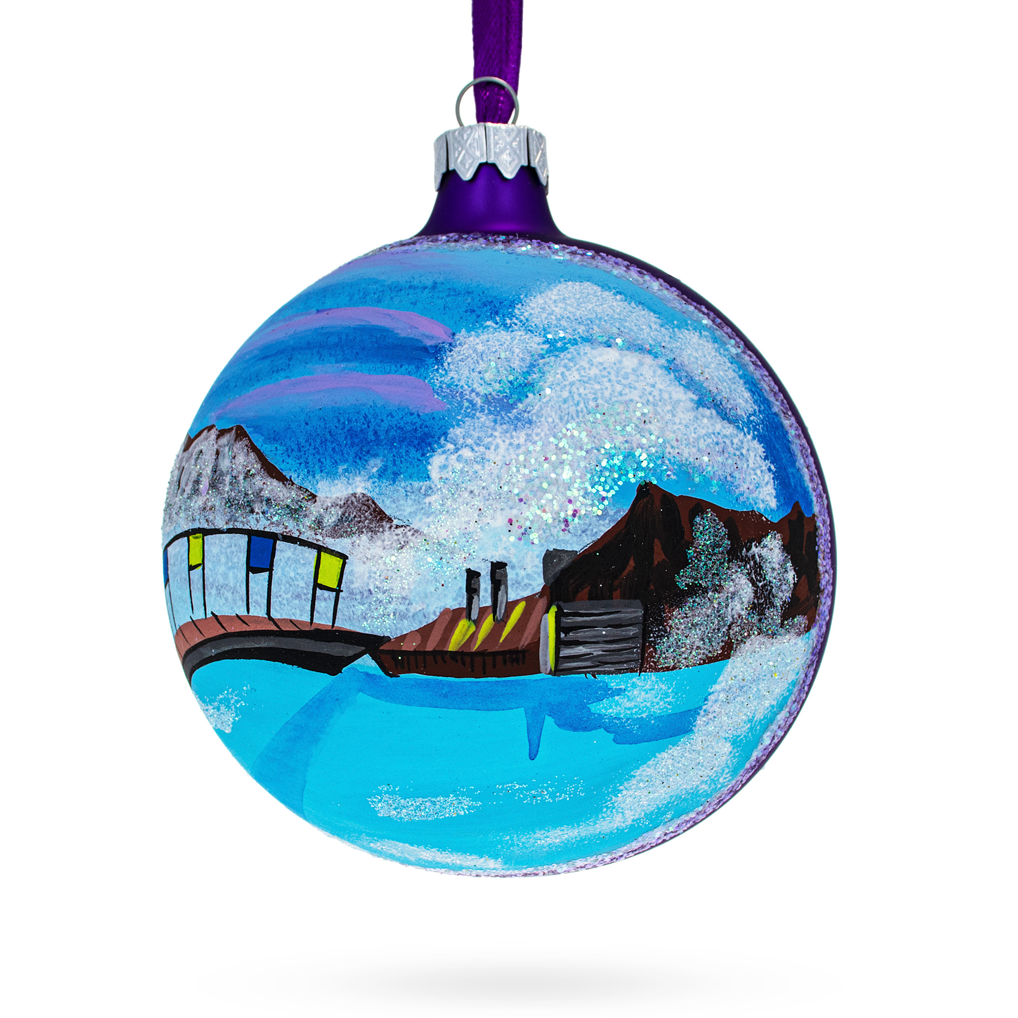 Glass Ball Christmas Ornament 4 Inches Stanley Park BestPysanky Vancouver Canada