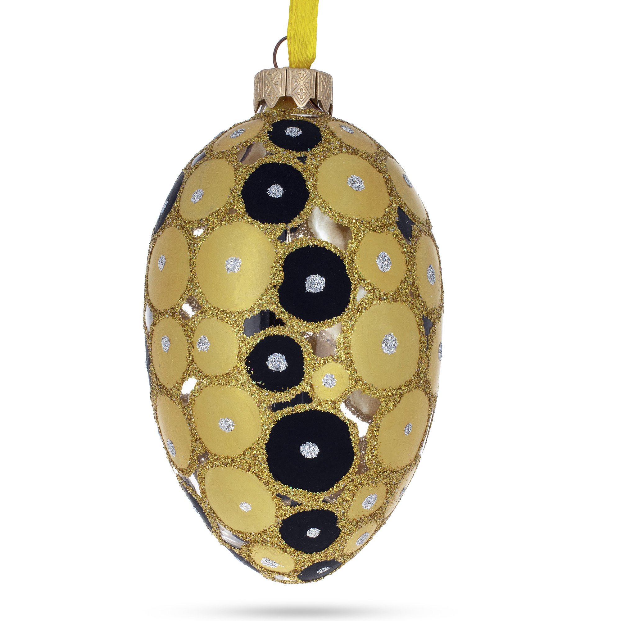 12 HANDMADE CHRISTMAS ORNAMENTS MADE WITH BLING BLACK AND GOLD