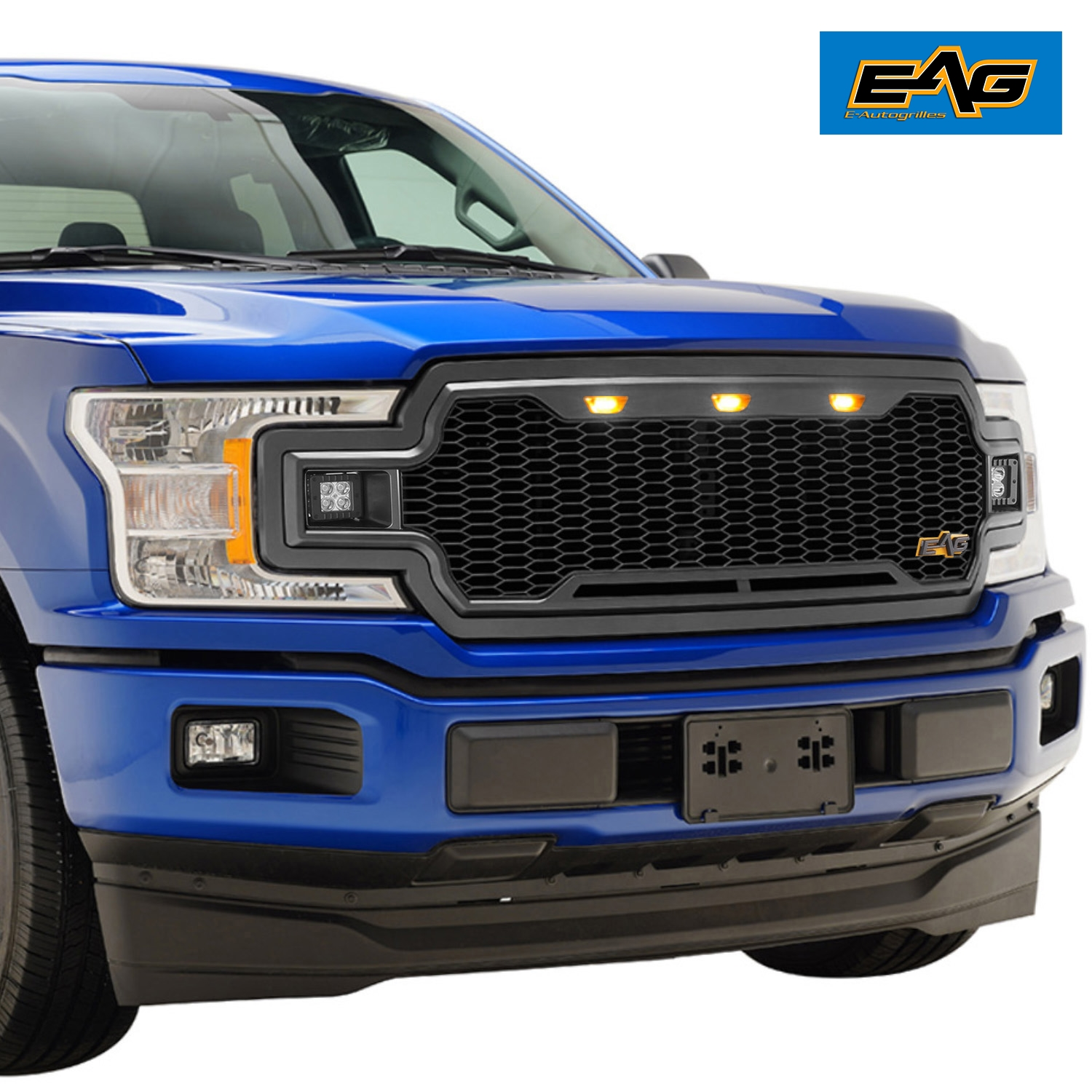 Details About Eag Mesh Mesh Main Grille Upper Front Grill Fit For1 8 19 Ford F150