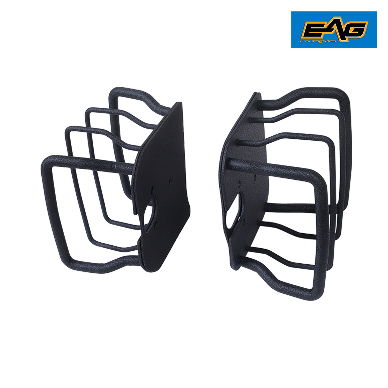 EAG 87-06 Jeep Wrangler TJ//YJ Black Textured Off Road Taillight Tail Light Guards Steel Protector
