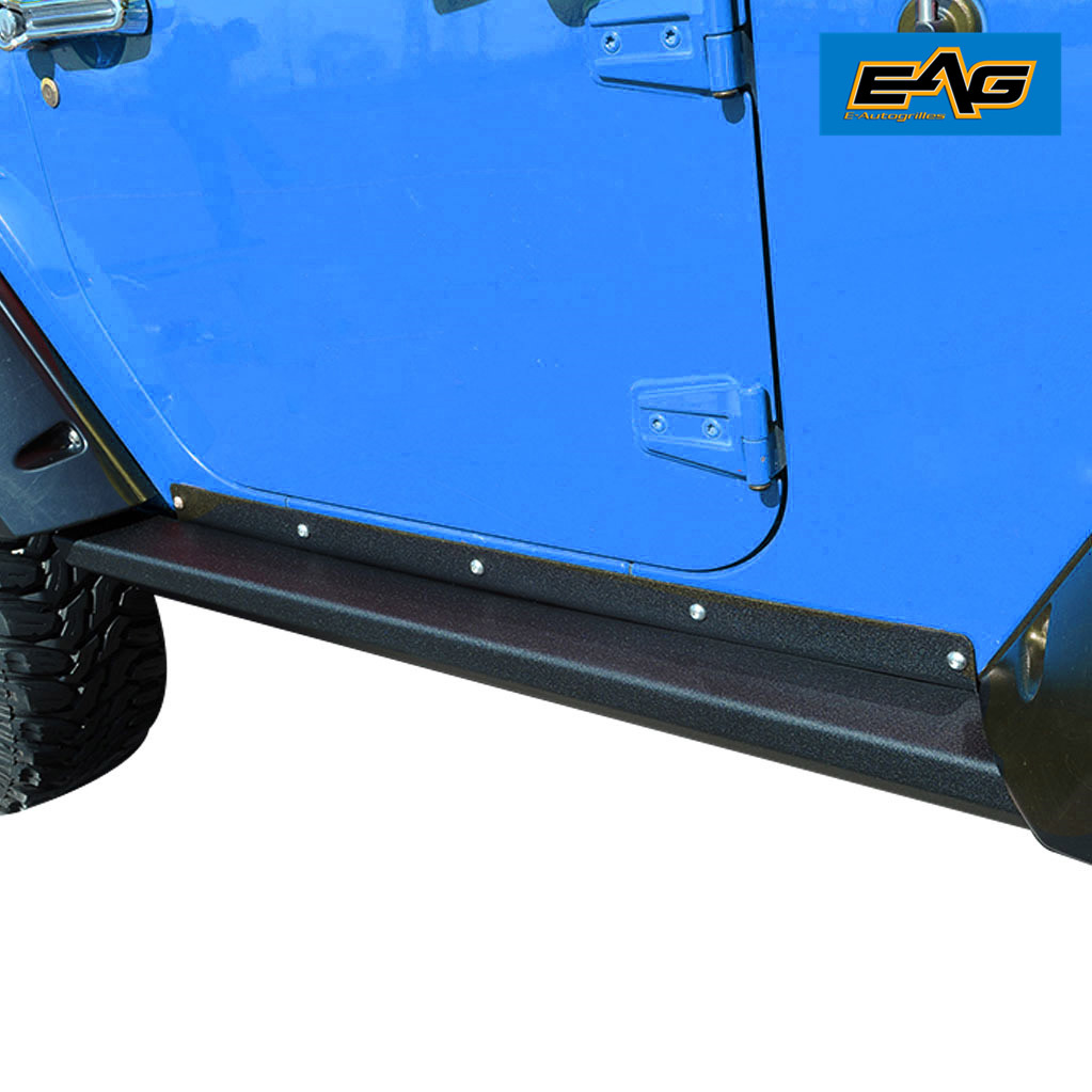 EAG Tubular Side Armor Rocker Guard Rock Sliders for Jeep Wrangler ...
