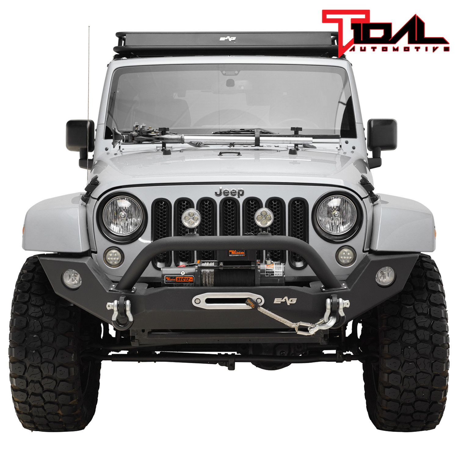Jeep Wrangler Fog Lights >> Tidal Front Bumper With Fog Light Hole Offroad Fit For 07 18 Jeep