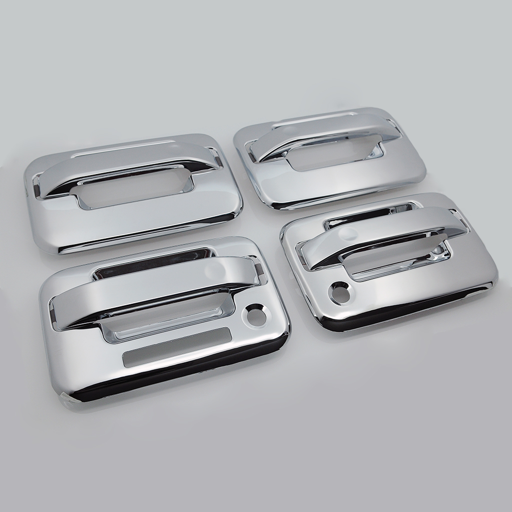 04-14 Ford F-150 4 Door Handle Cover W// Keypad/&PSG Keyhole Chrome
