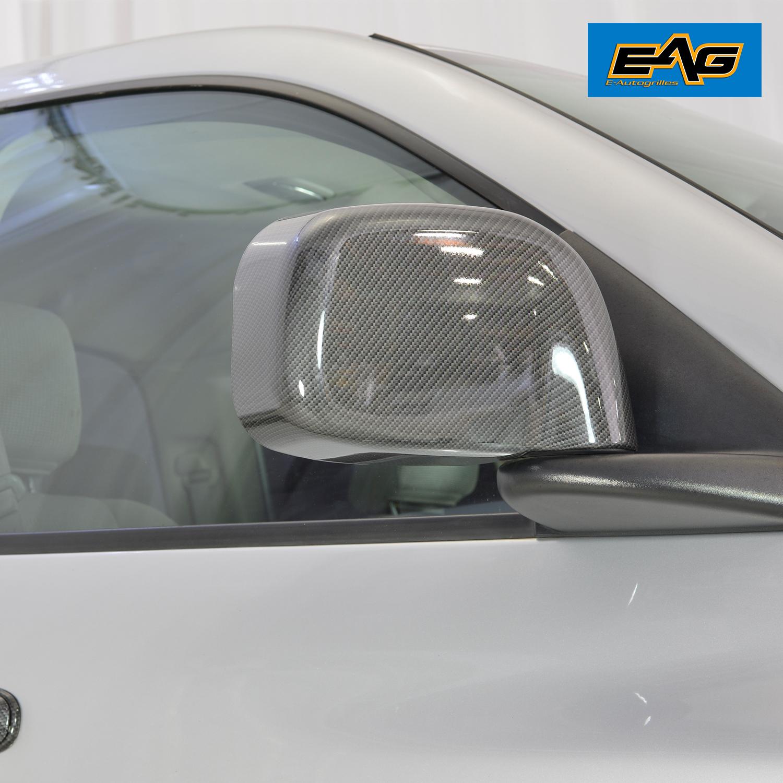 02-08 Dodge Ram 1500+03-09 Ram 3500 Mirror Cover Carbon Fiber Look Black