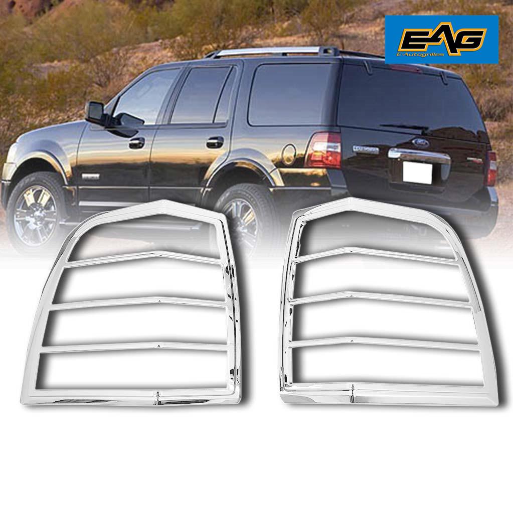 EAG Chrome Taillight Lamp ABS Cover Bezel Trim Kit Fit for 2003-2009 Toyota 4Runner