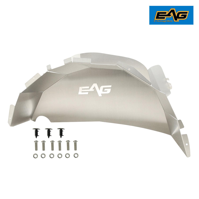 EAG Inner Fender Liner Rear 2PCS Silver Aluminum for 18-19 Jeep Wrangler JL