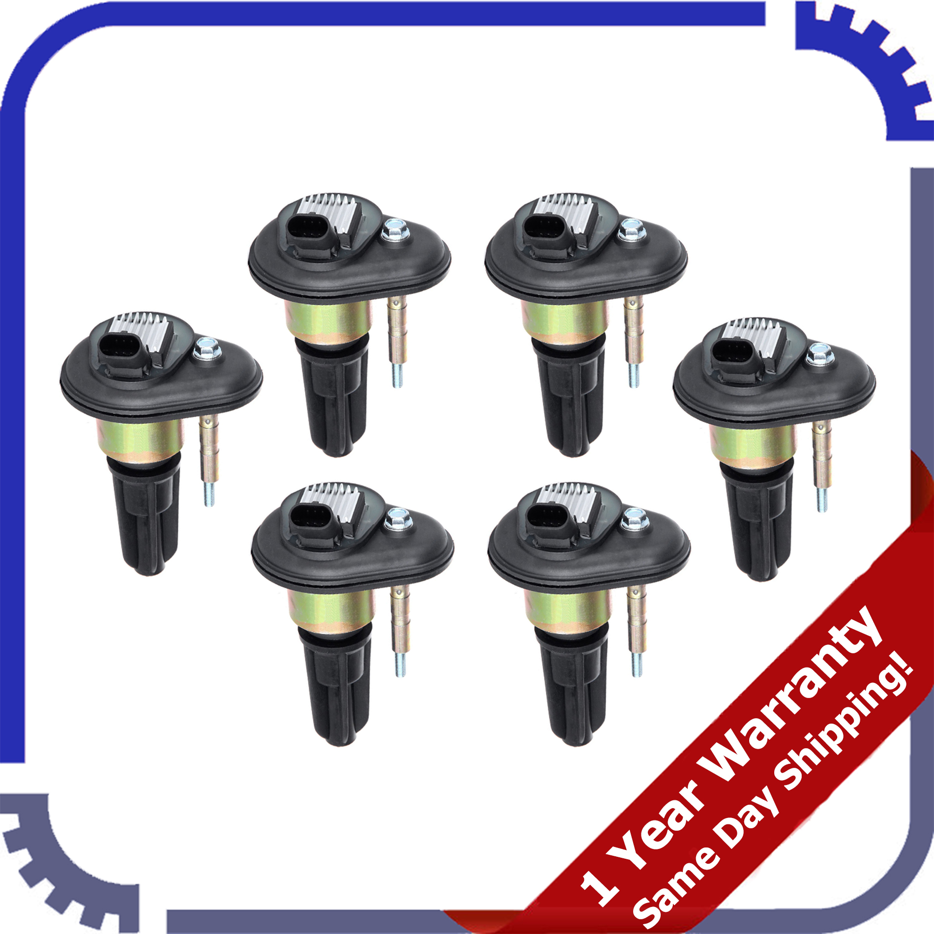 NEW 5 Pack Ignition Coils for Chevy Trailblazer GMC Canyon Envoy UF-303 C1395