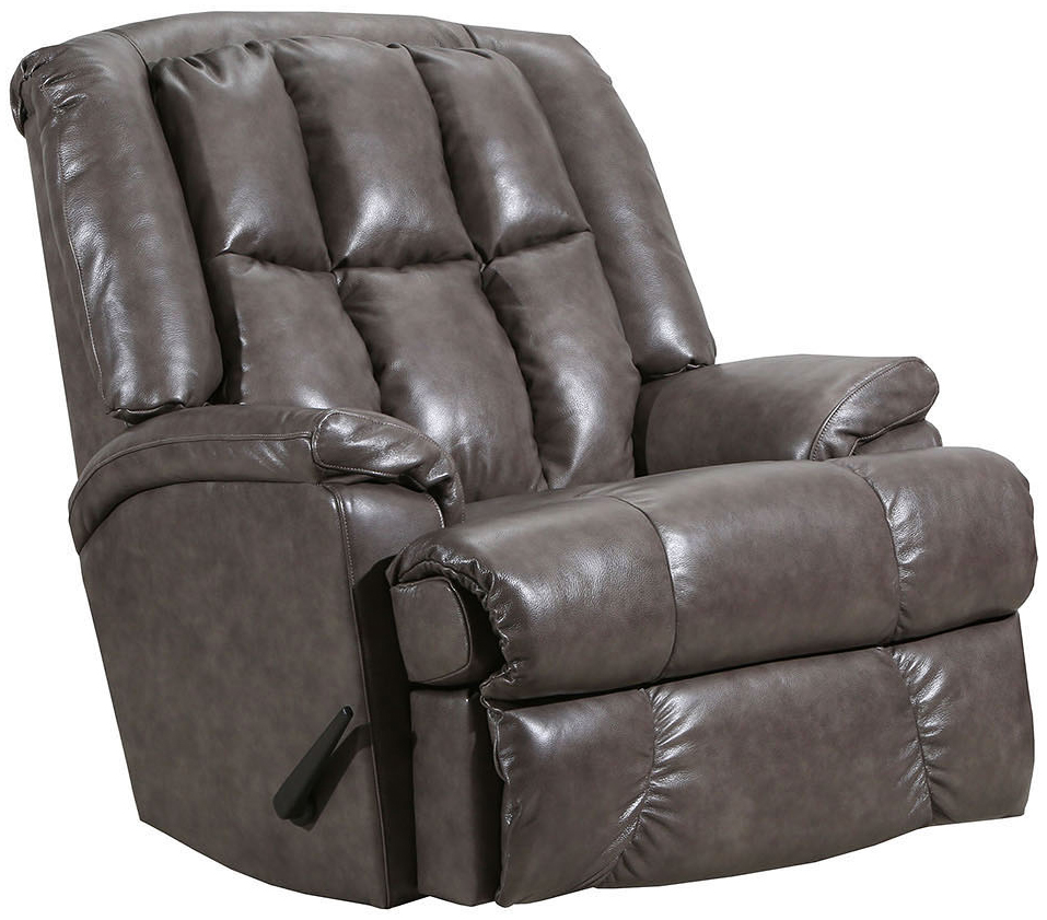 Lane Comfort King Big Man S Rocker Recliner Grey Leather Curbside