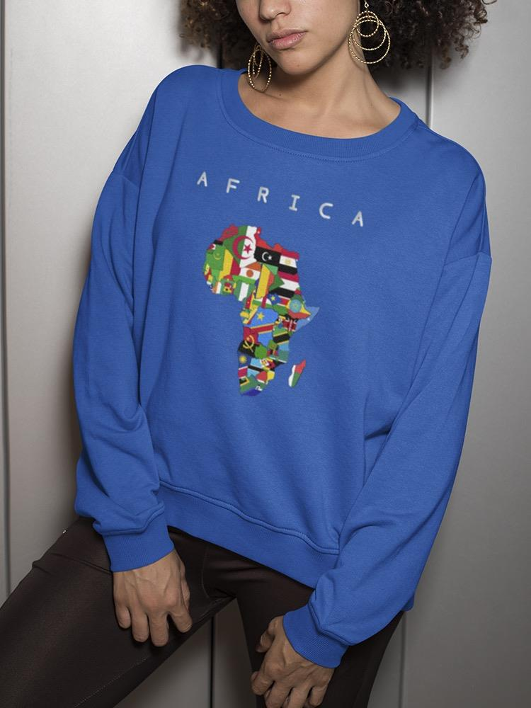 African Continent Colorful Flags Women's Sweatshirt -image By Shutterstock Do You Want To Buy Some Chinese Native Produce?