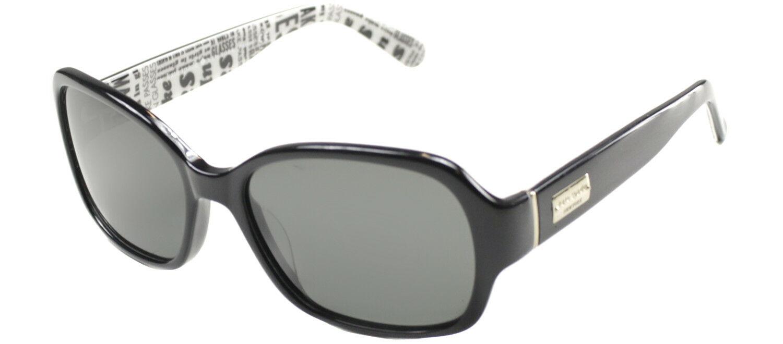 b78ed686ca Authentic Kate Spade Akira W08P Black Plastic Sunglasses Grey Polarized Lens