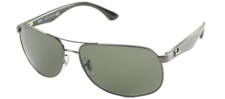 fa3249eced Authentic Ray Ban RB3502 029 Matte Gunmetal Metal Aviator Sunglasses Green  Lens
