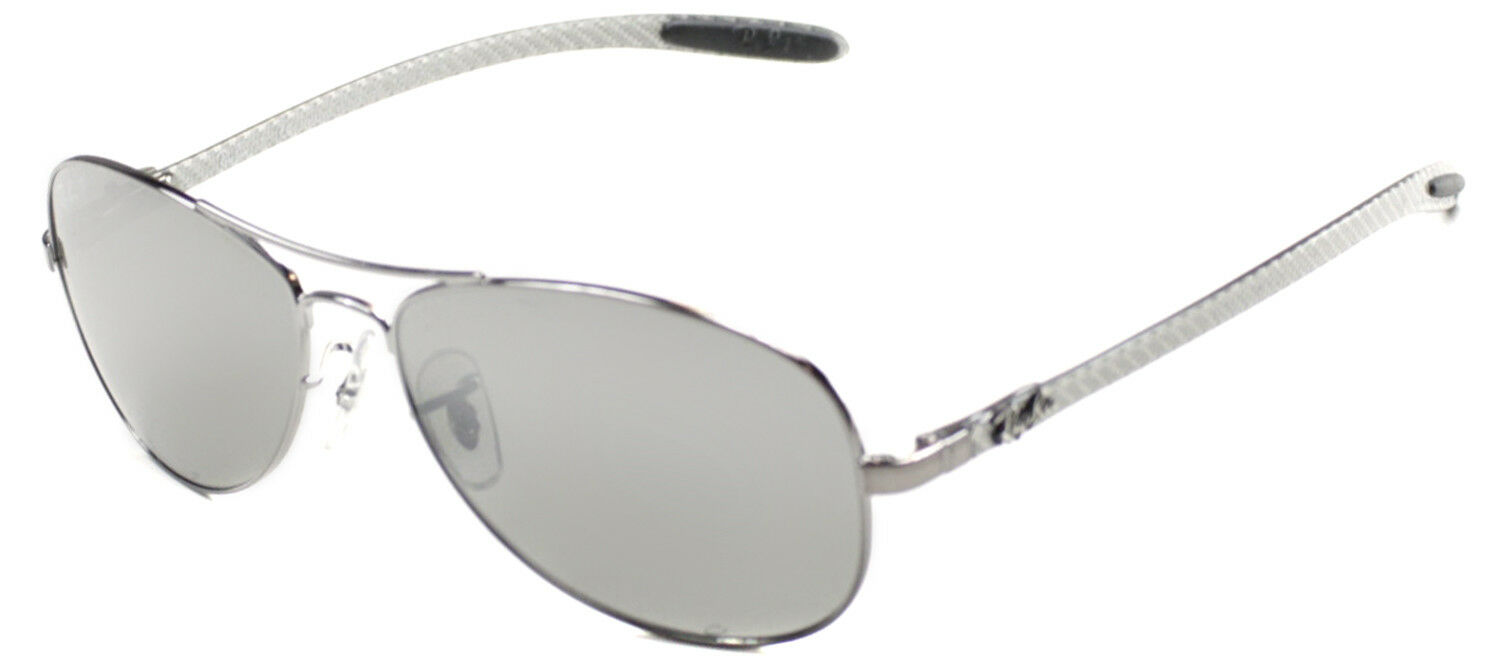 6aa54266ba Authentic Ray Ban RB8301 004 N8 Silver Carbon Fiber Polarized Sunglasses  59mm