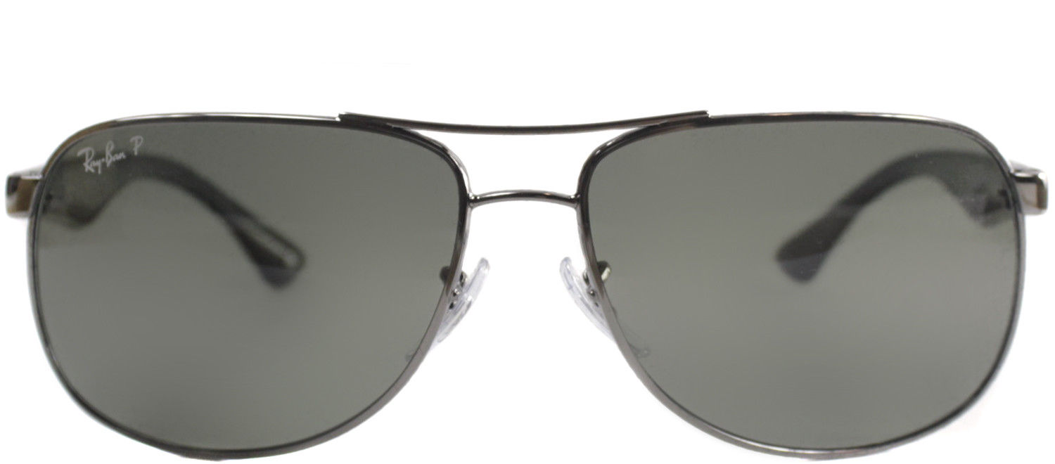 3c4b651dc8 New Ray Ban RB3502 004 58 Gunmetal Metal Aviator Sunglasses Green Polarized  Lens 2 2 of 3 ...
