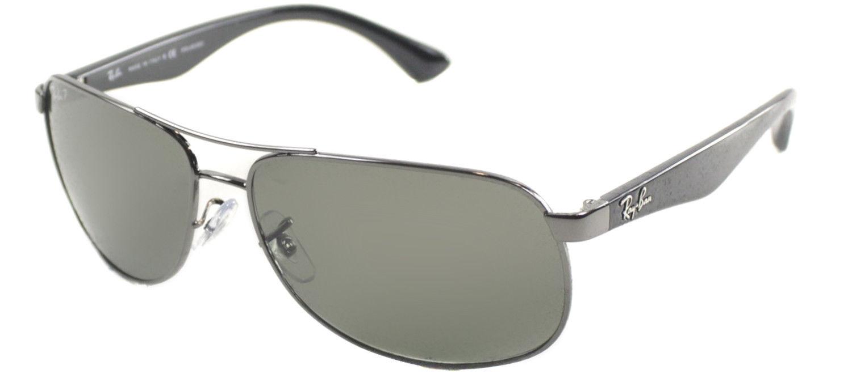 2eb09146cff New Ray Ban RB3502 004 58 Gunmetal Metal Aviator Sunglasses Green ...