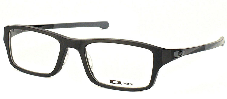 665bfa6dd9c OAKLEY CHAMFER OX8039-0153 Satin Black Rectangle Eyeglasses 53mm ...