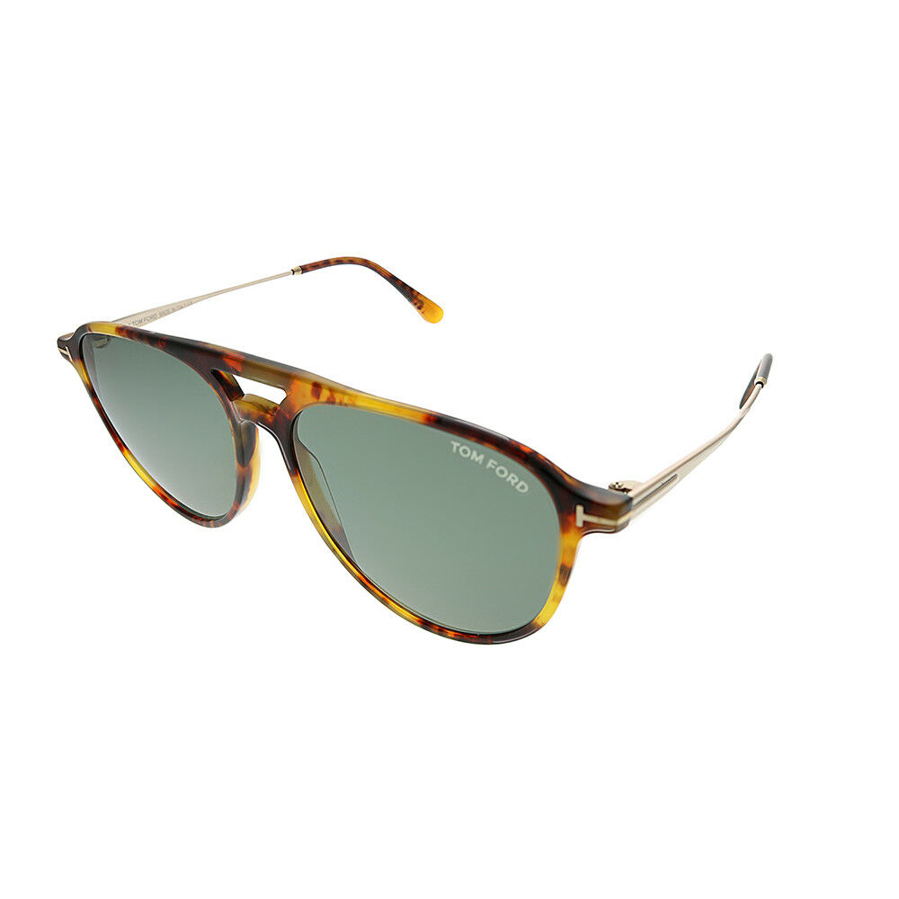 944b799efe941 Tom Ford Carlo TF 587 55N Light Havana Plastic Aviator Sunglasses ...