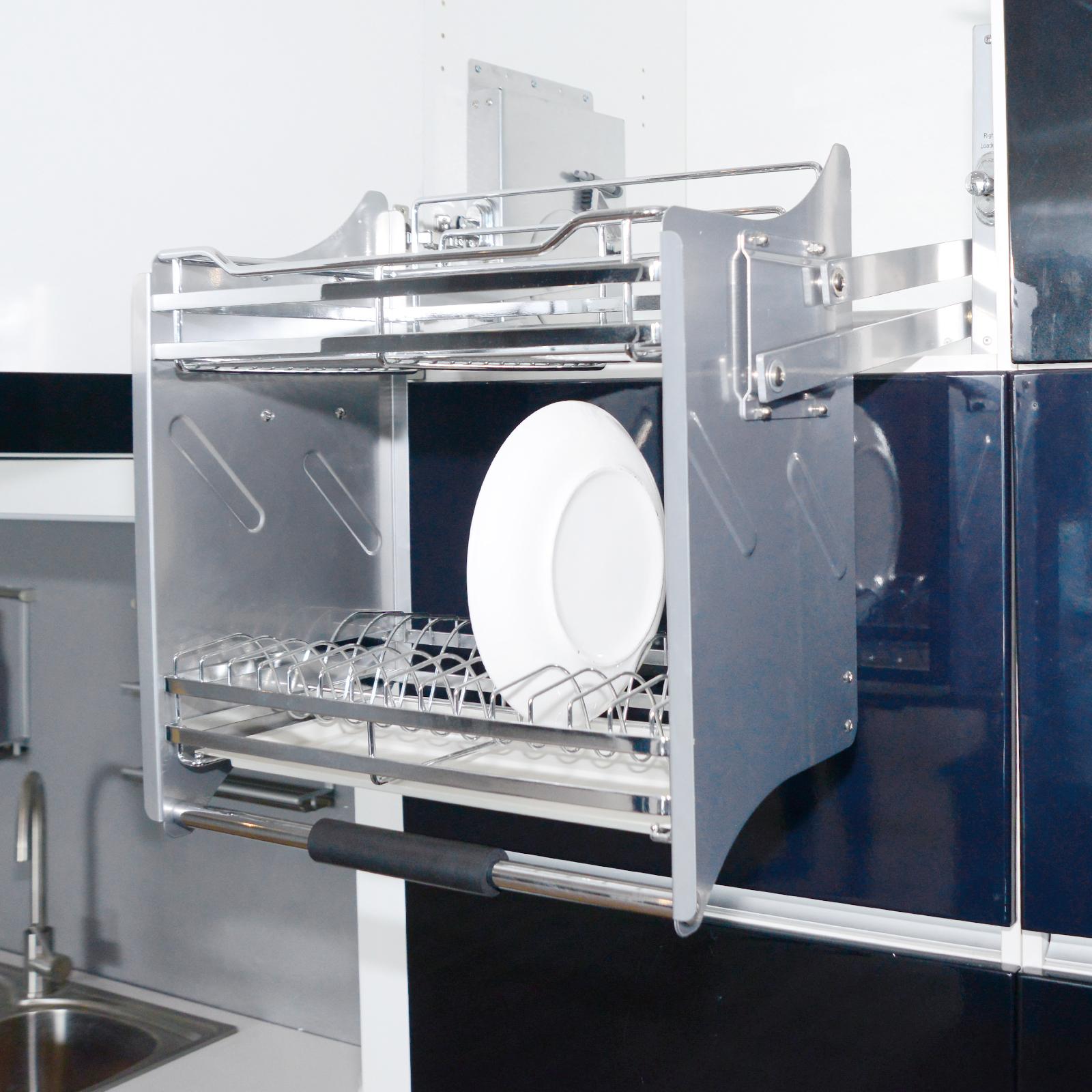 600mm Wall Cabinet Pull Down Bathroom Storag Kitchen Dish ...