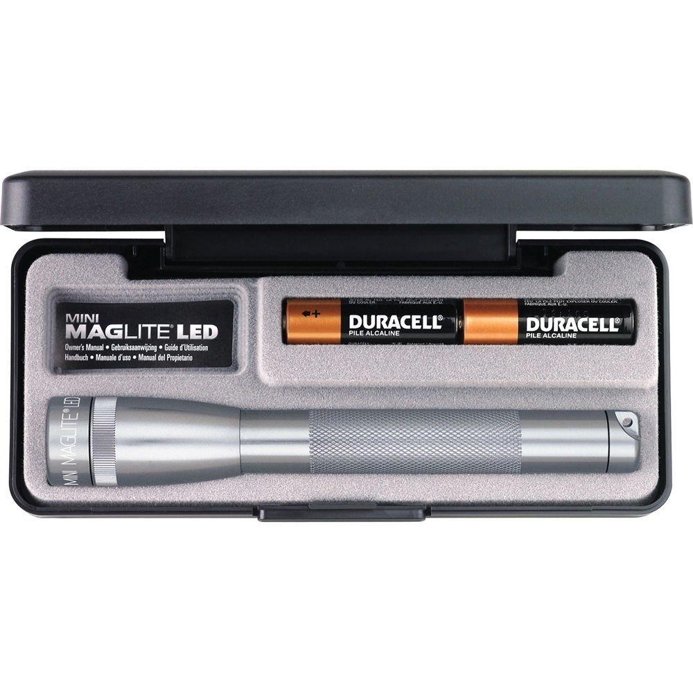 Gray #SP22097 Maglite Mini Ajustable Faisceau DEL Lampe 2 piles AA